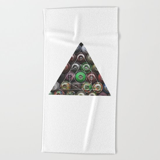 Graffiti Spray Cans - Geometric Photography Beach Towel
