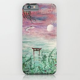 Haku and Chihiro Painting iPhone Case