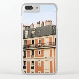 paris house Clear iPhone Case