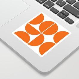 Mid Century Modern Orange Square Sticker