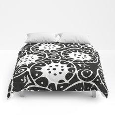 Black and White Swirl Pattern Comforters