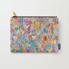 Crazy Flowers Carry-All Pouch
