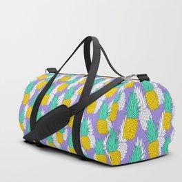 Pineapples on violet Duffle Bag