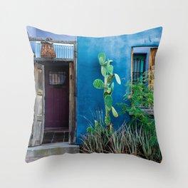 Colorful Historic Tucson Door Architecture - Barrio Viejo - Arizona Throw Pillow