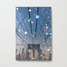 New York City Lights Metal Print