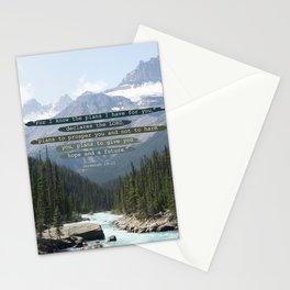 Jeremiah 29:11 Canadian Rockies Stationery Cards
