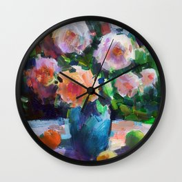 Roses and Fruits Wall Clock