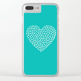 I Heart Cats Clear iPhone Case