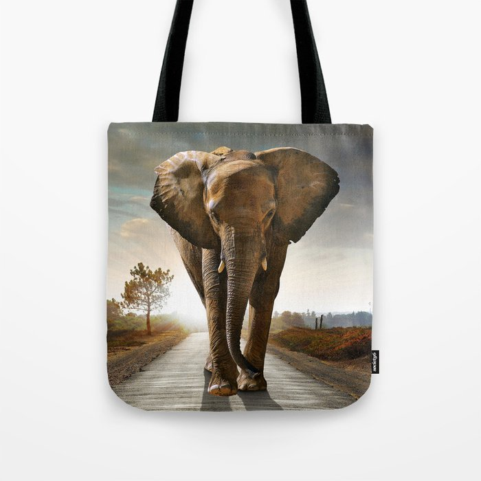 Lonely Elephant Tote Bag