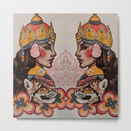 Tibetan Princess Metal Print