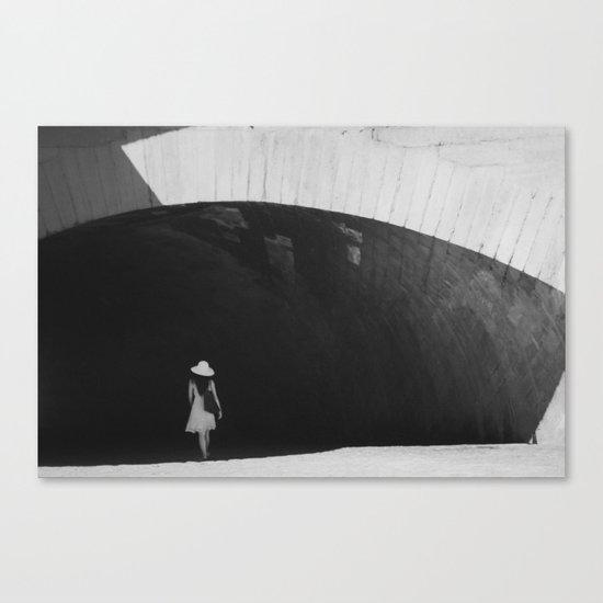 White Hat Canvas Print