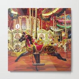 London: Carousel Metal Print