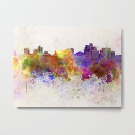 Reno skyline in watercolor background Metal Print