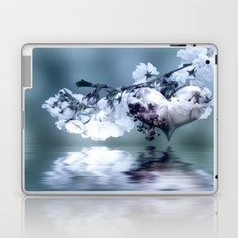 Frühlingsherz blue Laptop & iPad Skin