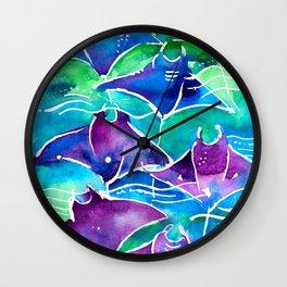 Manta Rays Wall Clock