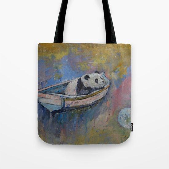 Panda Moon Tote Bag
