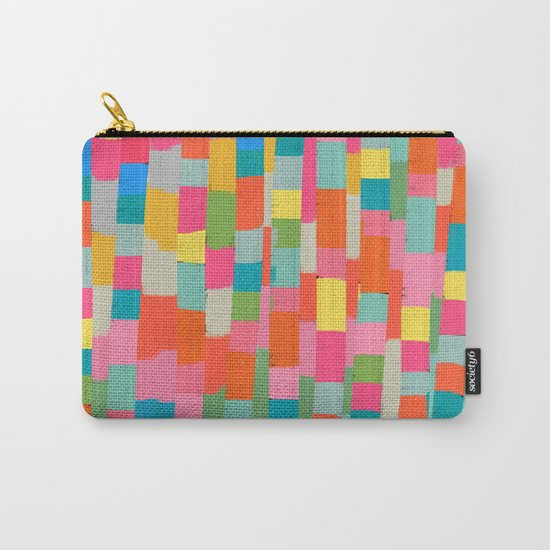 colorful patchwork 2 Carry-All Pouch
