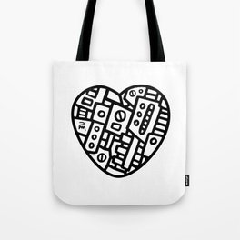 Iron heart (B&W Edition) - PM Tote Bag