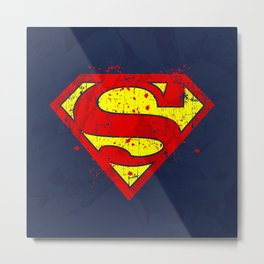 Super Man's Splash Metal Print