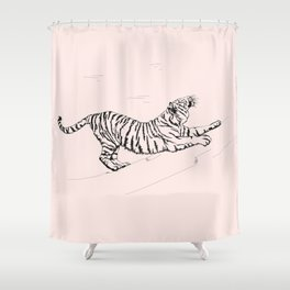 Tiger and Sun I. Shower Curtain