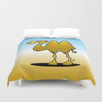 camel Duvet Covers featuring Camel by Cardvibes.com - Tekenaartje.nl
