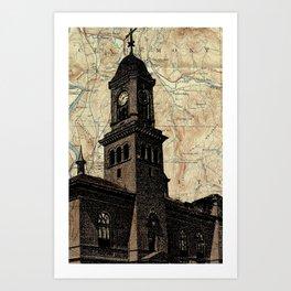 Claremont NH screenprint Art Print