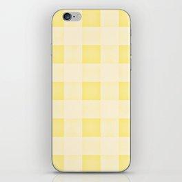 GINGHAM - SUNNY YELLO iPhone Skin
