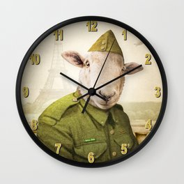 Private Leonard Lamb visits Paris Wall Clock