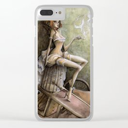 Mademoiselle Colombe Clear iPhone Case