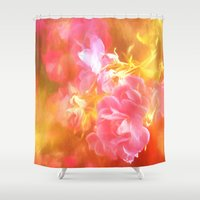 literary Shower Curtains featuring Your Heavenly Stride by Lorelei Bleil