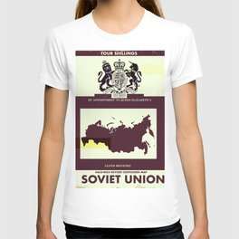 Soviet Union vintage style map cover T-shirt