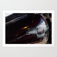 harley Art Prints featuring Harley by Paul Anthony Thompson