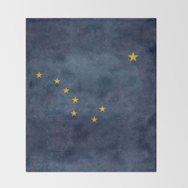 Alaska State Flag, Vintage retro version Throw Blanket
