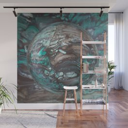 Alligator Reptile Planet Marble Galaxy Wall Mural