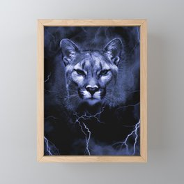 COUGAR Framed Mini Art Print