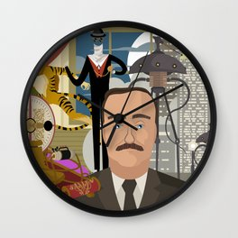 great science fiction retro writer Wall Clock