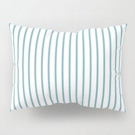 Hydrangea Blue Pinstripe on White Pillow Sham
