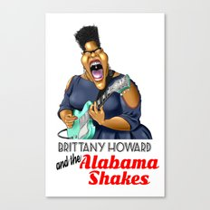Brittany Howard  Caricature for shirt Canvas Print