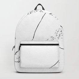 Kodiak Bear Left Straight Punch Drawing Backpack
