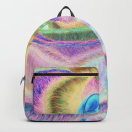 Pretty in Pink (Neon Rainbow Rose) Backpack