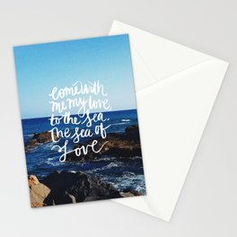 sea and love Stationery Cards