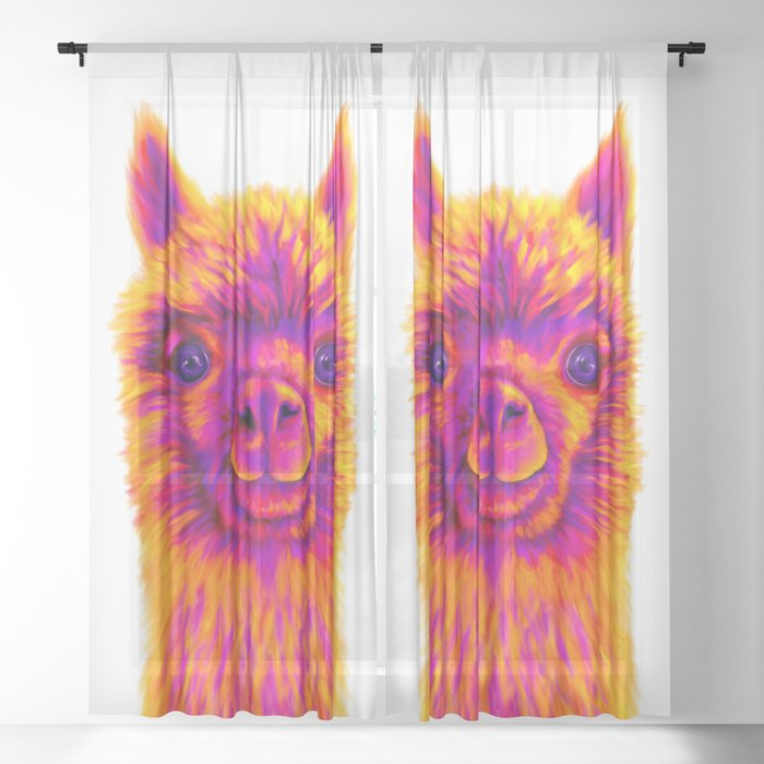 Molly the Alpaca Sheer Curtain