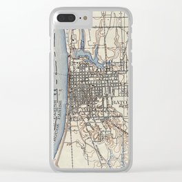 Vintage Map of Baton Rouge Louisiana (1906) Clear iPhone Case