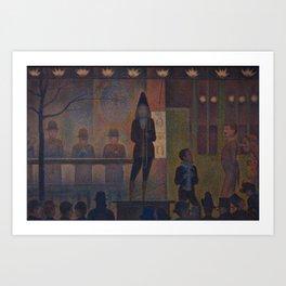Georges Seurat  -  Circus Sideshow Art Print