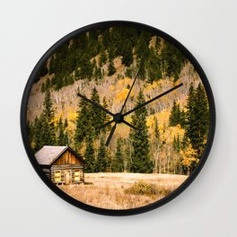 LITTLE CABIN IN THE WOODS Wall Clock