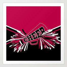 Hot Pink Cheerleader Design Art Print
