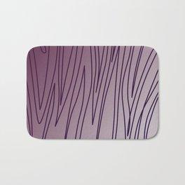 WILD DESIGN LINES PLUM PURPLE Bath Mat