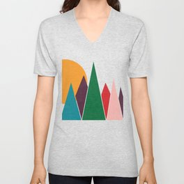 solar mountain #homedecor #midcentury Unisex V-Neck