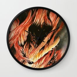 Shadow and Flame Wall Clock