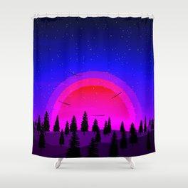Midnight Sun Shower Curtain